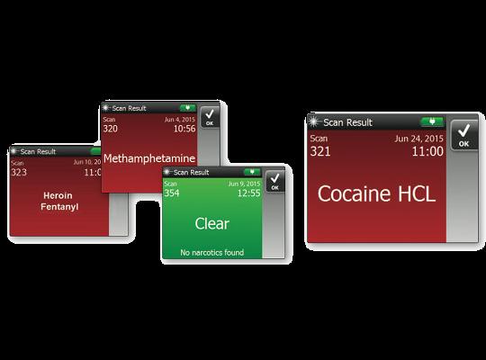 TruNarc內建完整毒品資料庫