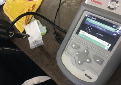 芝加哥港口使用Gemini對塑膠包裝裡的內容物做快速篩檢
