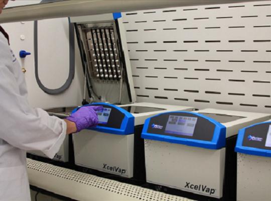 XcelVap體積小、節省實驗室空間