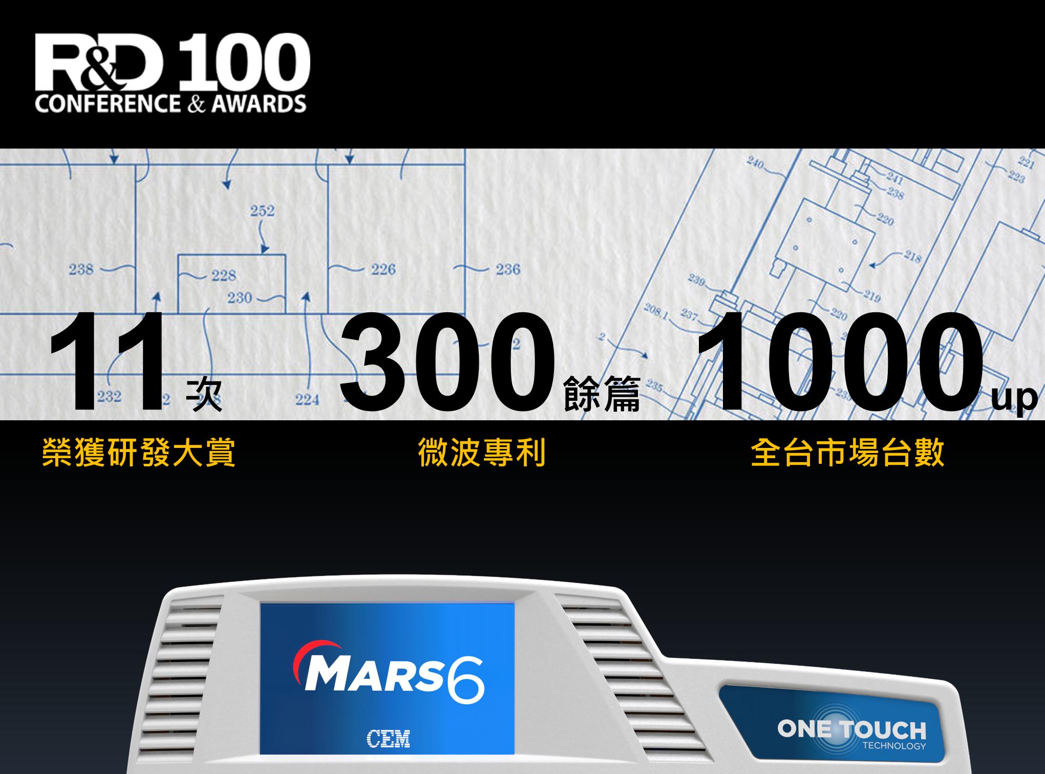 CEM MARS R&D 100 獲獎 銷售冠軍 專利之冠